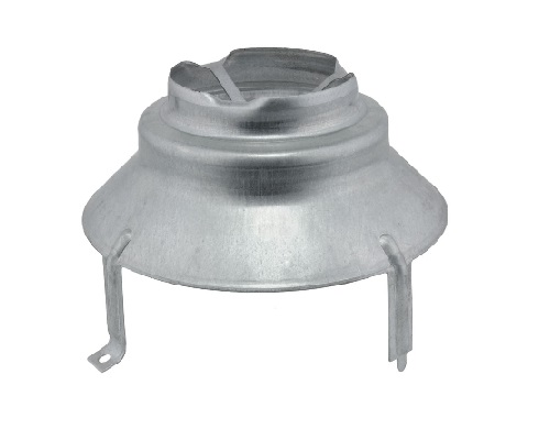 """Rheem Draft Diverter Vent  Hood For 3"""" or 4.    A draft hood connects the  water heater to the venting  system. It aids in assisting  in the updraft movement of  the combustion gasses."""